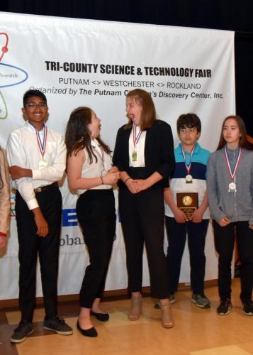 2019 Middle School Judge Edith Miller Excellence in Education winners